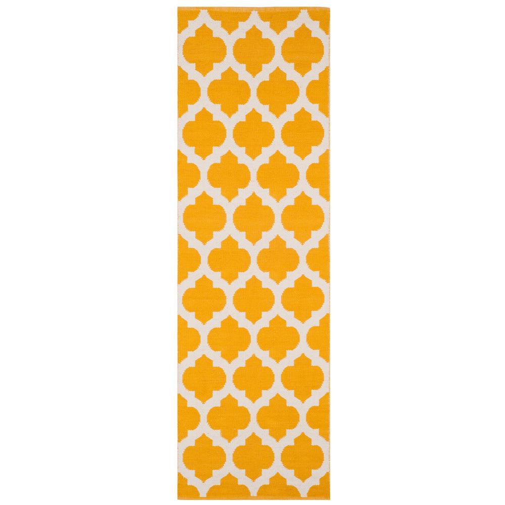 Montauk Yellow/Ivory 2 ft. 3 in. x 7 ft. Runner Rug