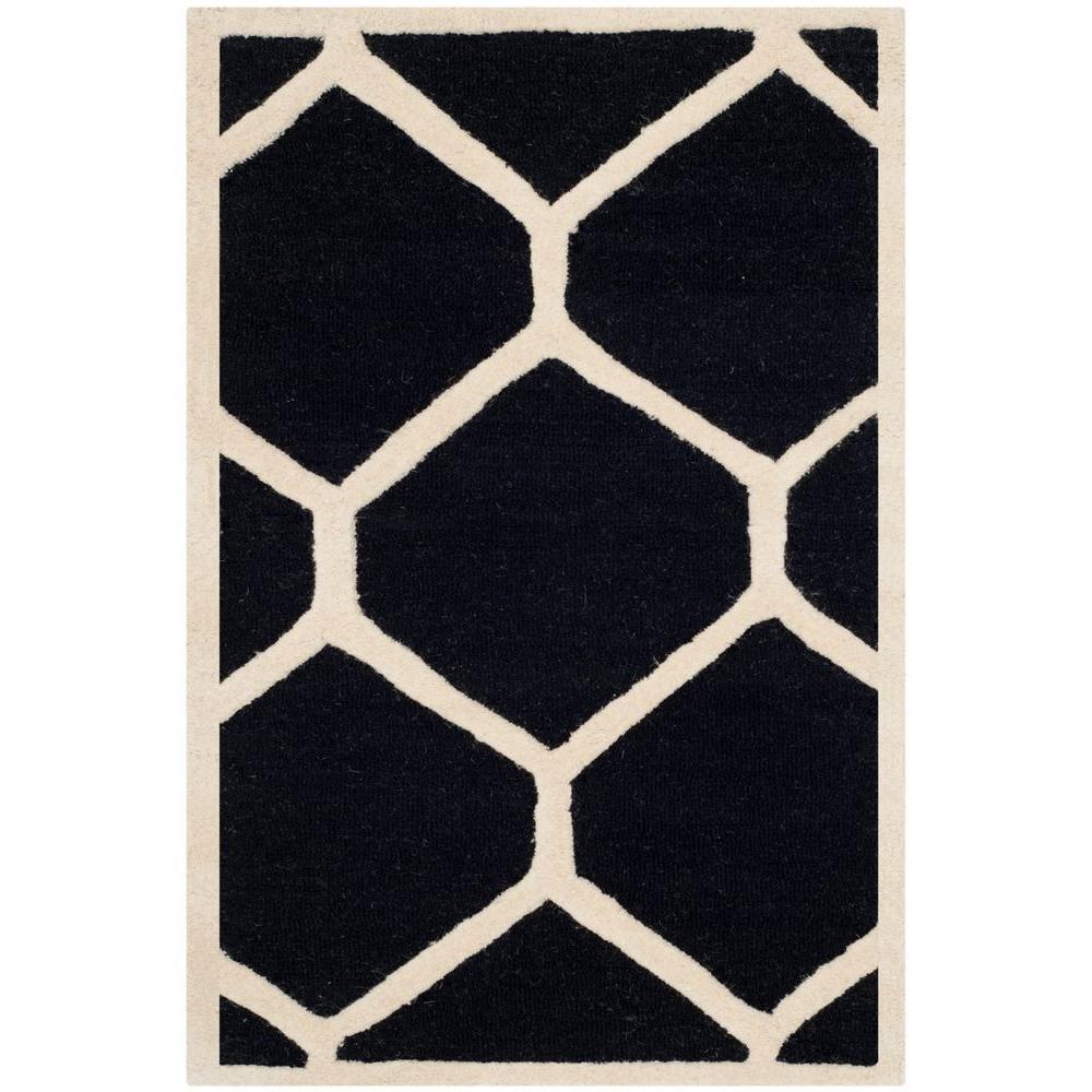 Cambridge Black/Ivory 2 ft. 6 in. x 4 ft. Area Rug