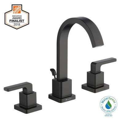 Farrington 8 in. Widespread 2-Handle High-Arc Bathroom Faucet in Matte Black