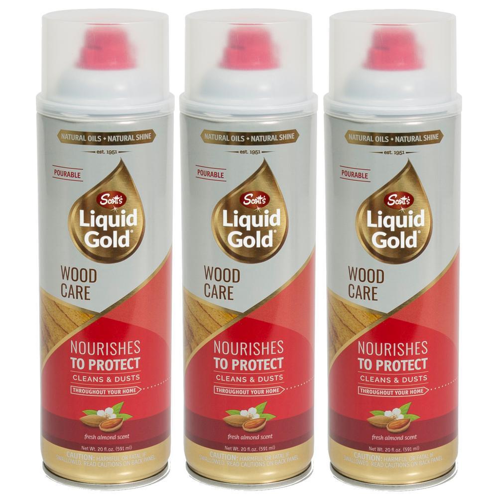 Scott S Liquid Gold 20 Oz Pourable Wood Care 3 Pack