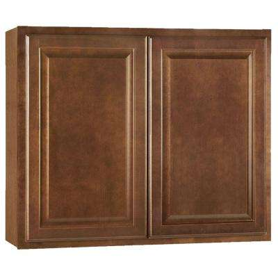 Hampton Assembled 36x30x12 in. Wall Kitchen Cabinet in Cognac