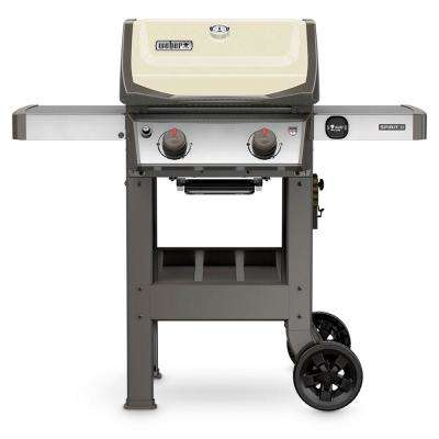 Spirit II E-210 2-Burner Propane Gas Grill in Ivory