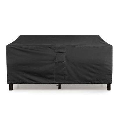Small Black Love Seat  Weatherproof Outdoor Patio Sofa Protector Cover