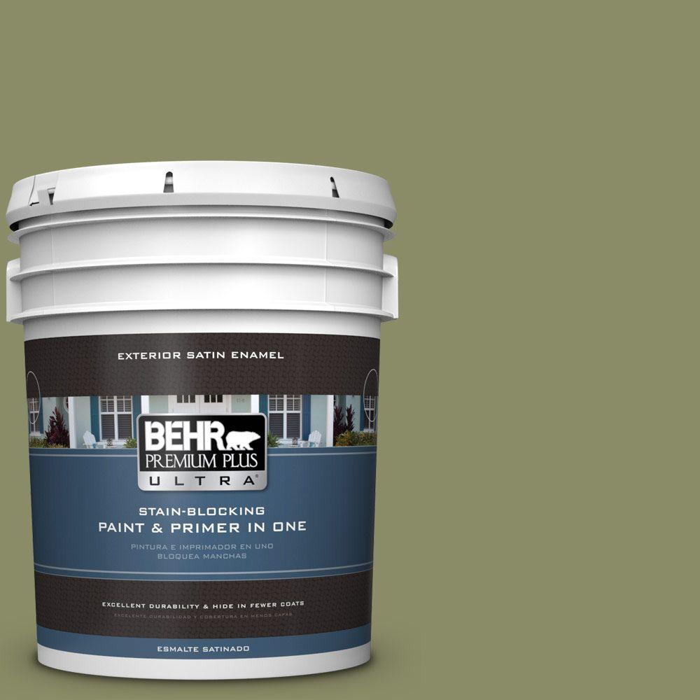 BEHR Premium Plus Ultra 5-gal. #S360-5 Yogi Satin Enamel Exterior Paint