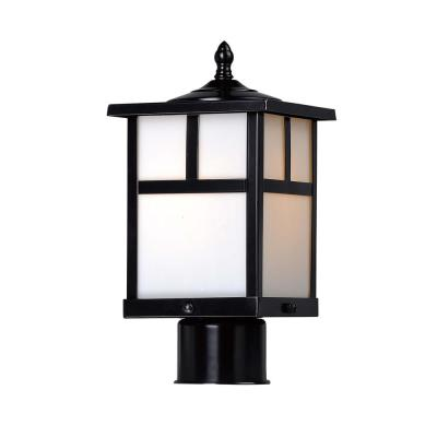 Coldwater 6 in. Wide 1-Light Outdoor Black Post Light