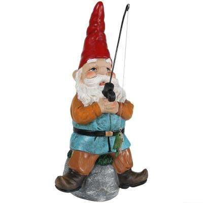 12 in. Floyd the Fishing Gnome Garden Statue