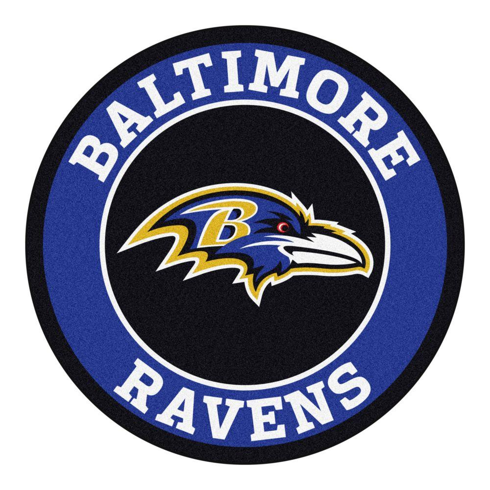 FANMATS NFL Baltimore Ravens Purple 2 Ft. X 2 Ft. Round