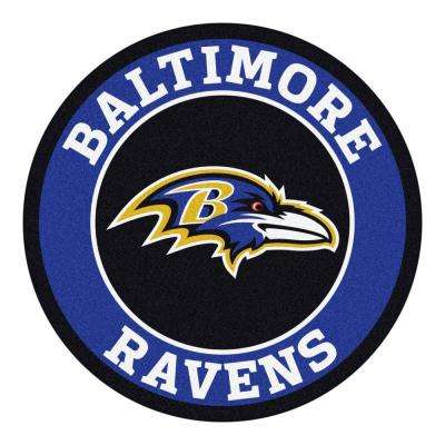 NFL Baltimore Ravens Purple 2 ft. x 2 ft. Round Area Rug