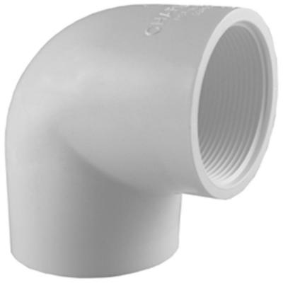 1/2 in. PVC Schedule. 40 90-Degree S x FIP Elbow Fitting