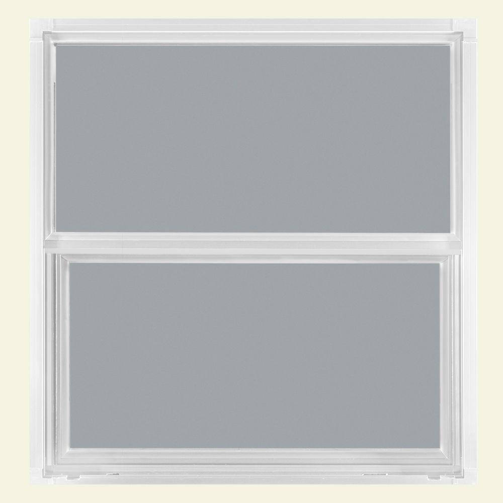 JELD-WEN 36.5 in. x 37.5 in. Builders Atlantic Single Hung Aluminum Window - White