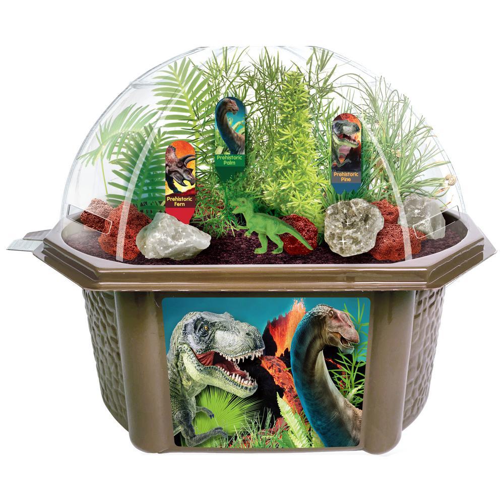 Biosphere Terrariums Brown Dinosaur Domain Indoor Garden Terrarium Indoor Garden Seed Starter Kit