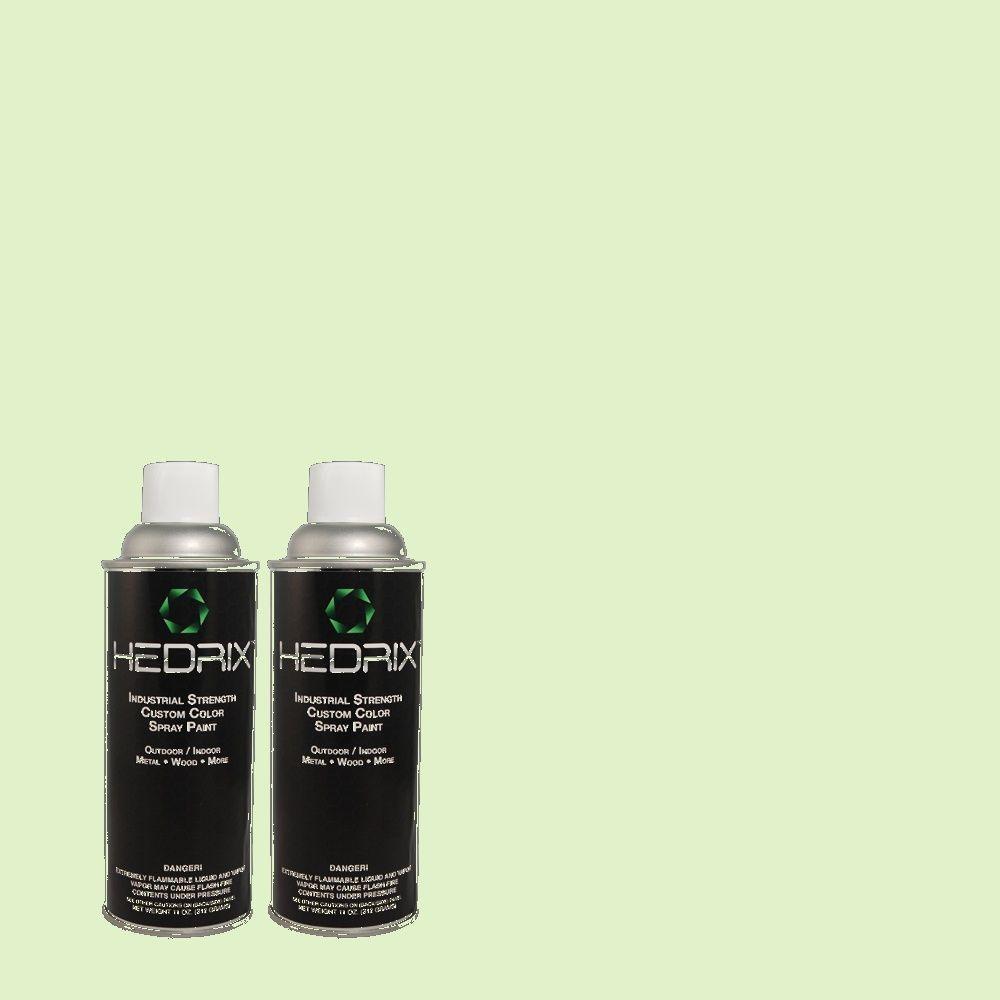 Hedrix 11 oz. Match of 430A-2 Seafoam Spray Flat Custom Spray Paint (2-Pack)