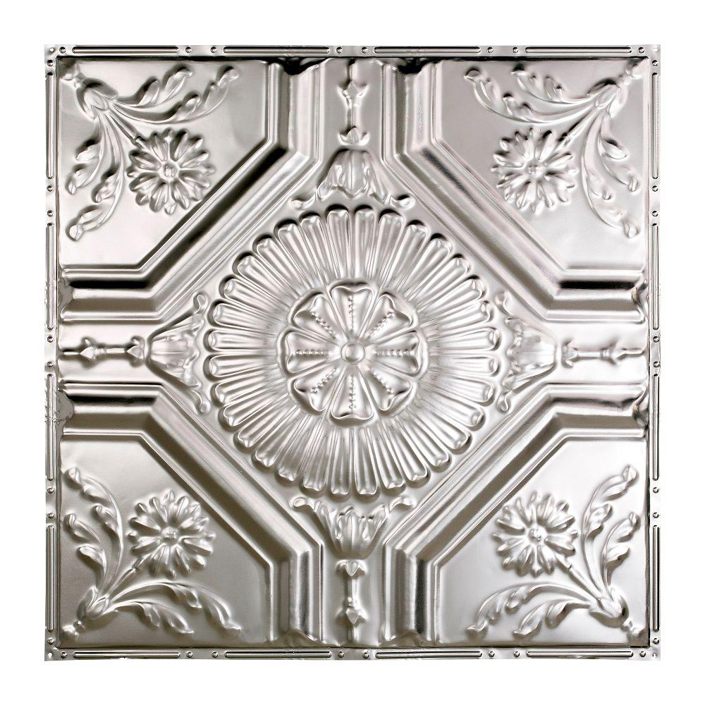 Great Lakes Tin Rochester 2 Ft X Nail Up Ceiling Tile In Clear T58 04 The Home Depot