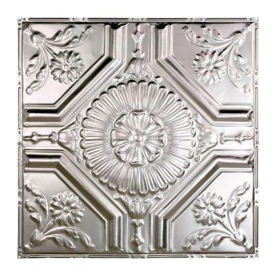 Rochester 2 ft. x 2 ft. Nail-up Tin Ceiling Tile in Clear
