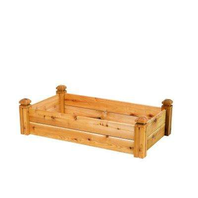 24 in. x 11 in. x 48 in. Cedar Elevated Garden Bed