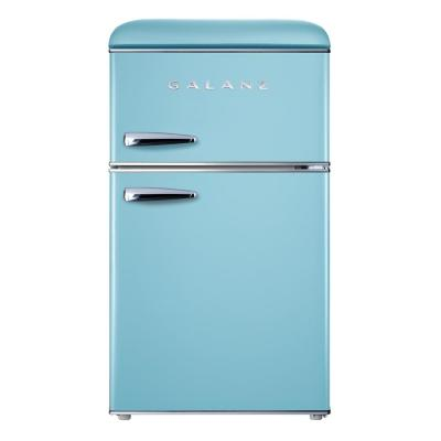 Galanz 3.1 cu. ft. Retro Mini Fridge with Dual Door True Freezer