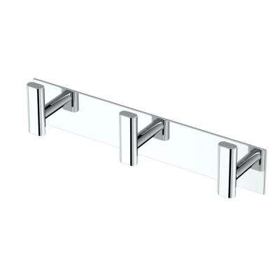 Elevate All Modern Decor Triple Robe Hook in Chrome