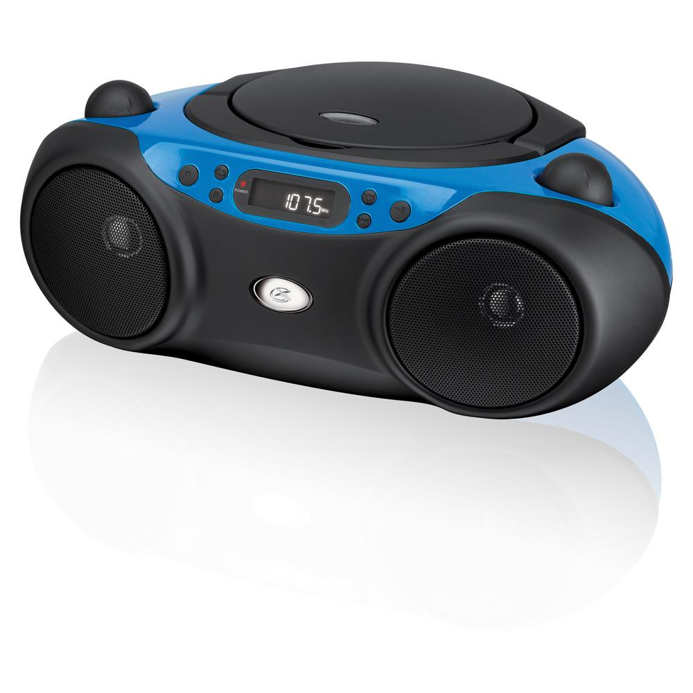 AM/FM CD Boom Box, Blue