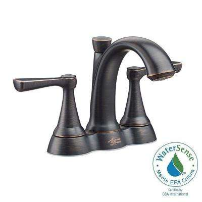 Kempton 4 in. Centerset 2-Handle Bathroom Faucet in Legacy Bronze