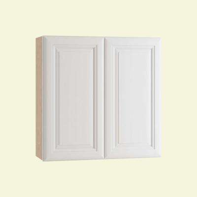 Brookfield Assembled 24x36x12 in. Double Door Wall Kitchen Cabinet in Pacific White