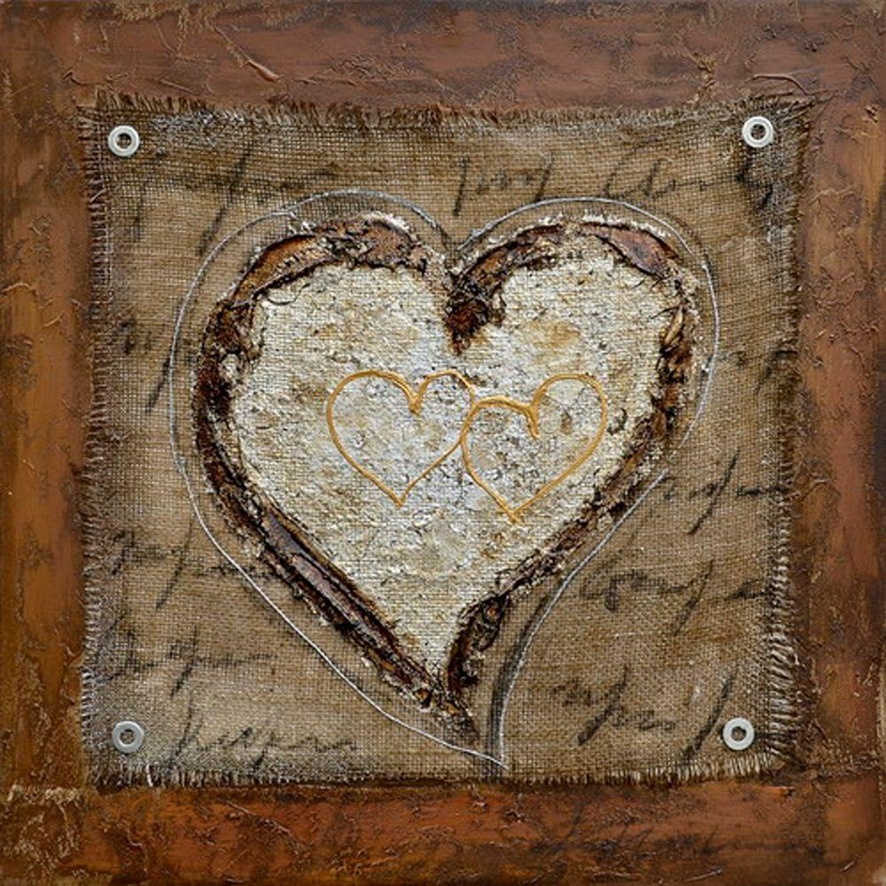 "Yosemite Home Decor 24 in. x 24 in. ""The Healing Heart III"" Contemporary Artwork"