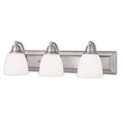 Springfield 3-Light Brushed Nickel Bath Light