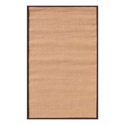 Sisal Brown Border 8 ft. x 10 ft. Indoor Area Rug