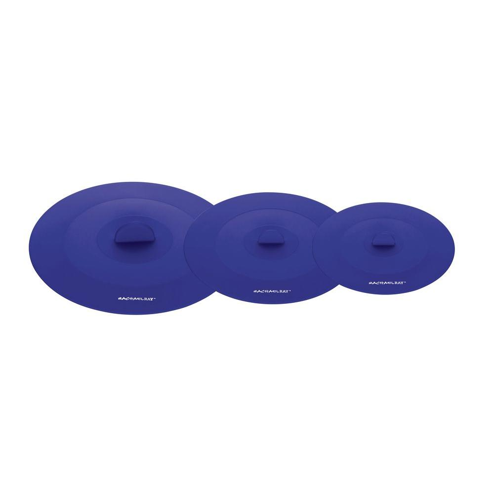 Rachael Ray Tools and Gadgets Set of Three Suction Lids in Blue