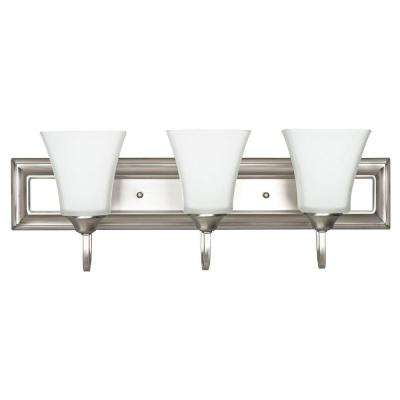 3-Light Satin Nickel Bath Vanity Light