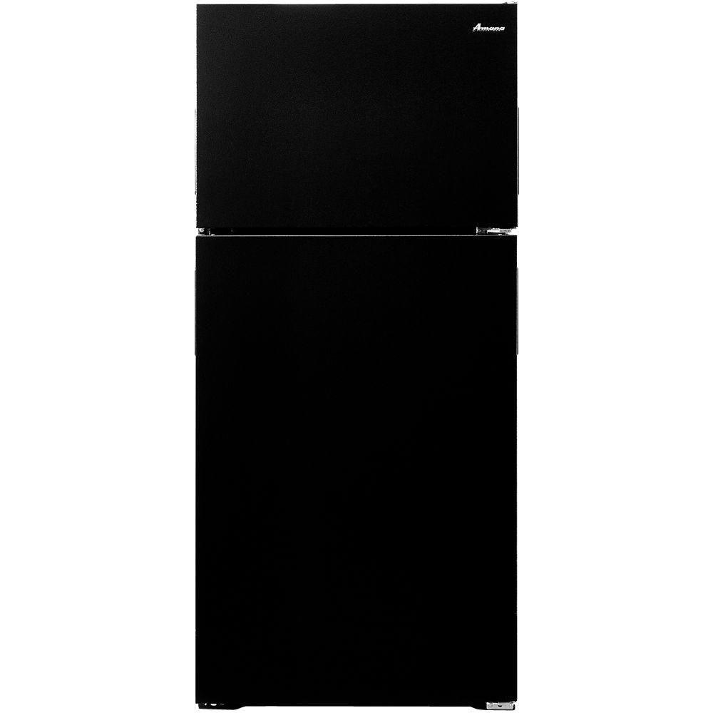 Amana 14.3 cu. ft. Top Freezer Refrigerator in Black