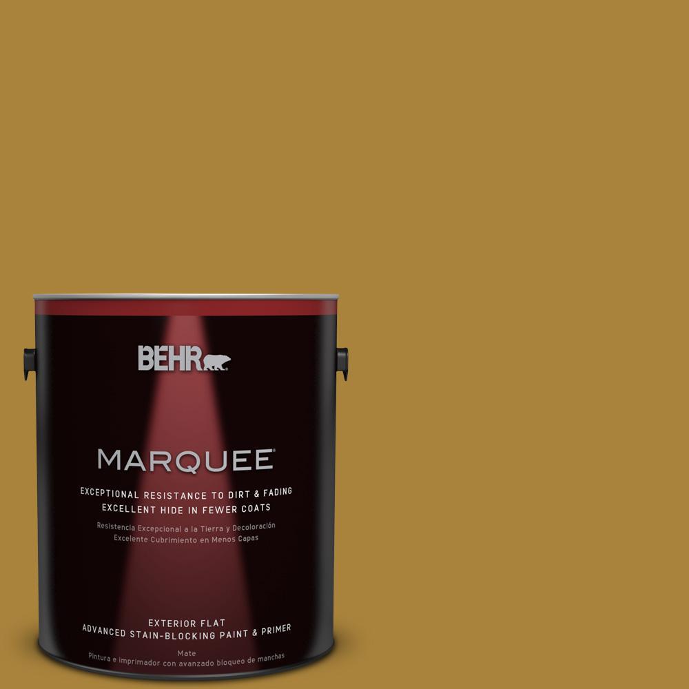 BEHR MARQUEE 1-gal. #340D-7 Golden Green Flat Exterior Paint
