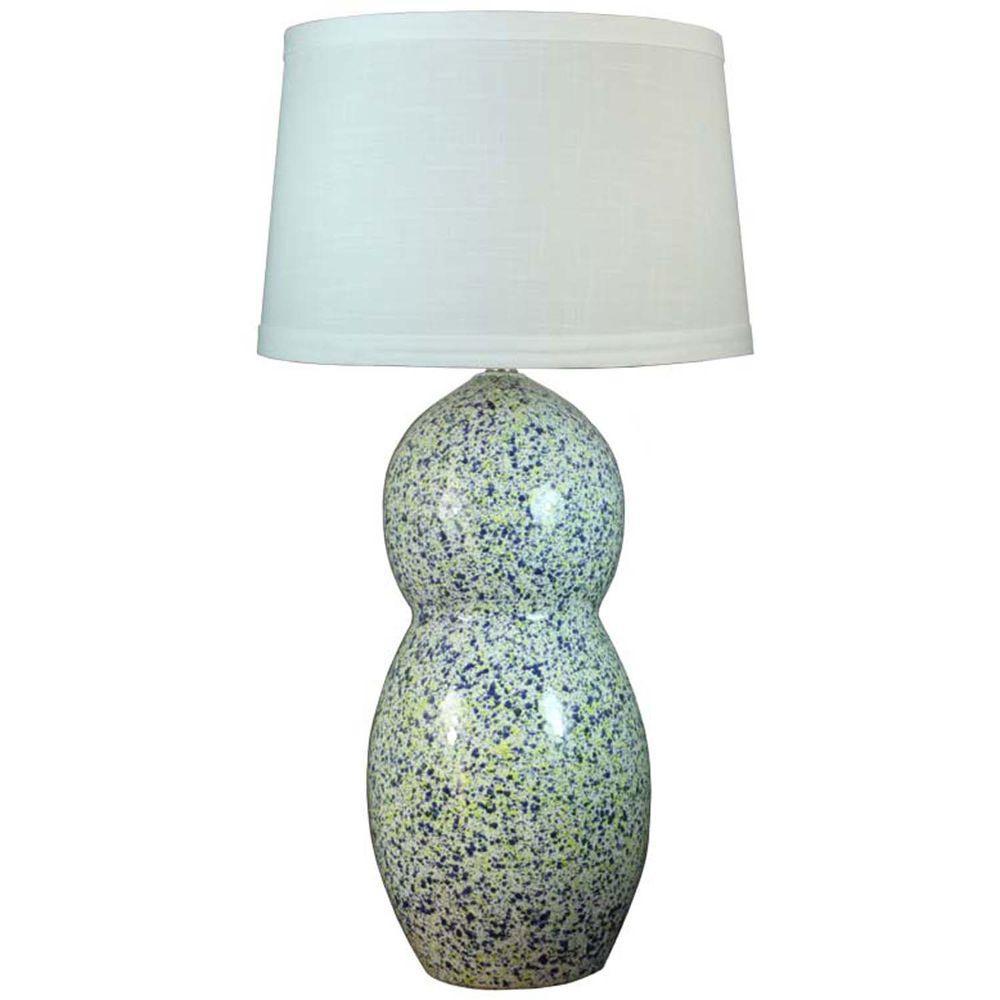 Fangio Lighting 30 75 In Blue And Yellow Granite Ceramic Table Lamp