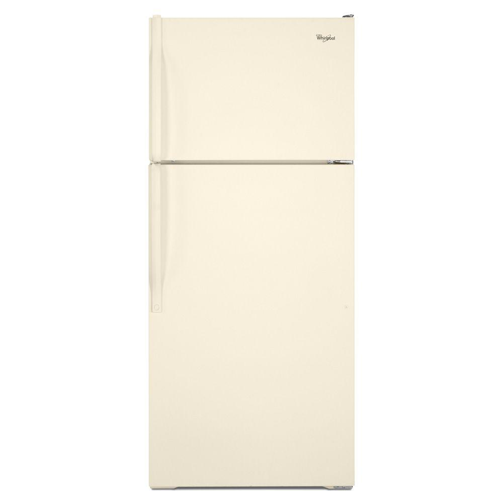 Whirlpool 17.6 cu. ft. Top Freezer Refrigerator in Biscuit
