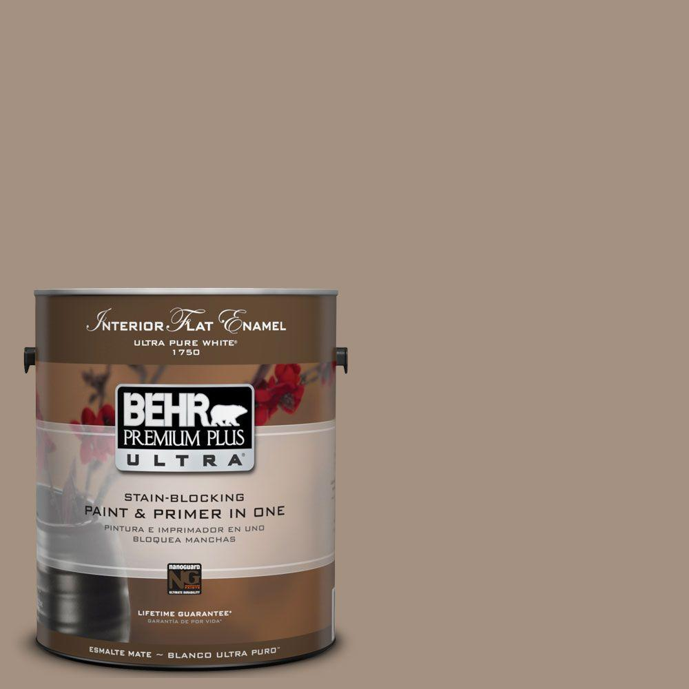 BEHR Premium Plus Ultra 1 gal. #UL160-19 Pure Earth Matte Interior Paint and Primer in One