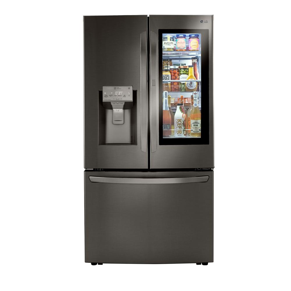 LG Electronics 23.3 cu. ft. French Door Refrigerator with InstaView, Dual and Craft Ice in PrintProof Black Stainless, Counter Depth, PrintProof Black was $4199.0 now $2698.2 (36.0% off)