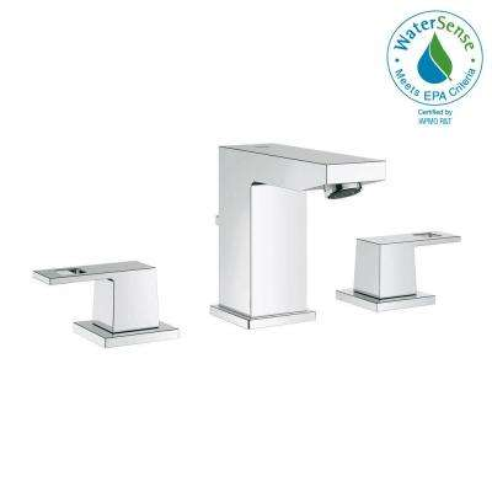 Eurocube 8 in. Widespread 2-Handle Bathroom Faucet in StarLight Chrome