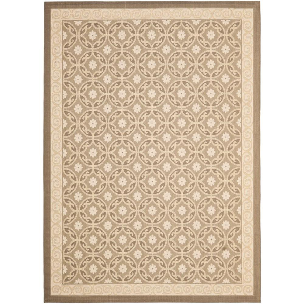 Safavieh Outdoor: Safavieh Courtyard Beige 8 Ft. X 11 Ft. Indoor/Outdoor
