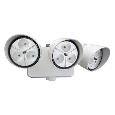 3-Head White Outdoor LED Wall-Mount Flood Light