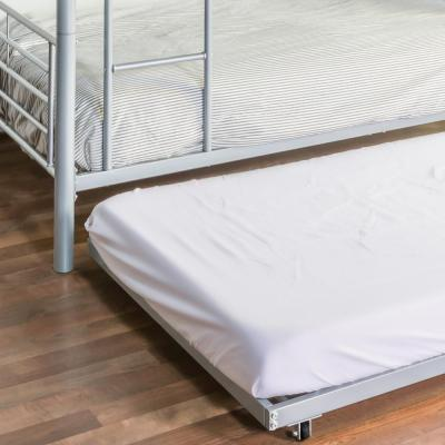 Twin Roll-Out Trundle Bed Frame - Silver