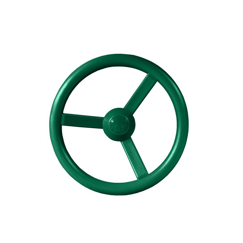 Steering Wheel in Green