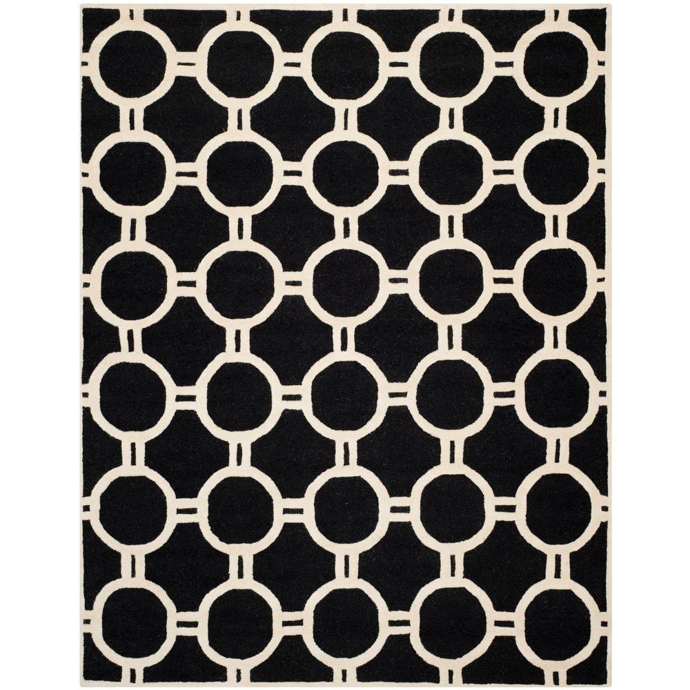 Cambridge Black/Ivory 8 ft. x 10 ft. Area Rug