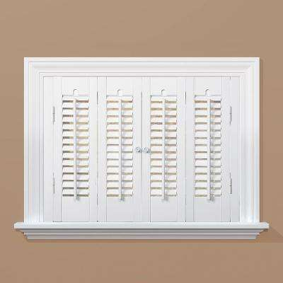 Snow 1-1/4 in. Traditional Real Wood Interior Shutter 27 to 29 in. W x 36 in. L