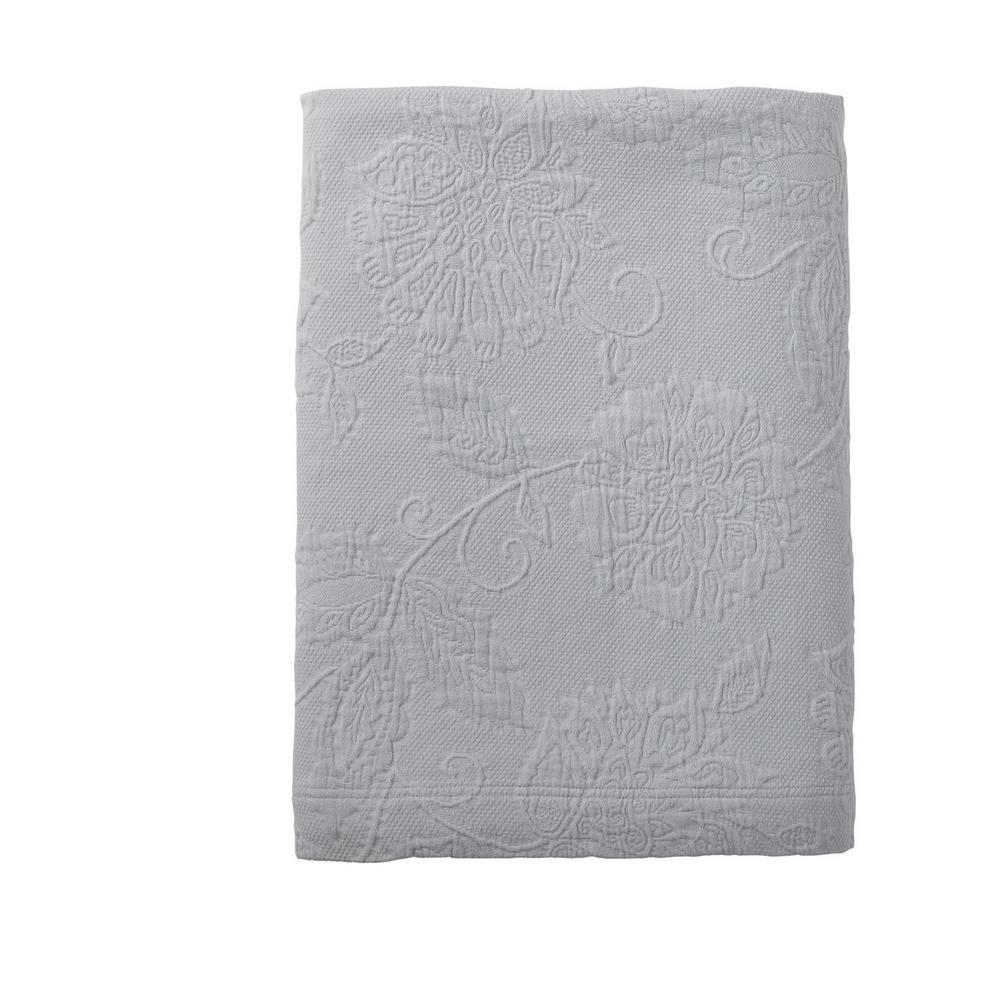 Putnam Matelasse Sterling Gray Cotton King Bedspread