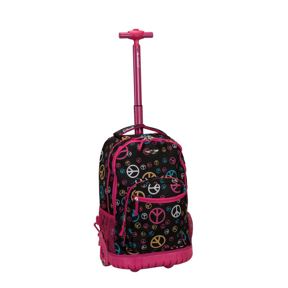 Rockland 19 in. Multi-Coloured Rolling Backpack, Multi-Co...