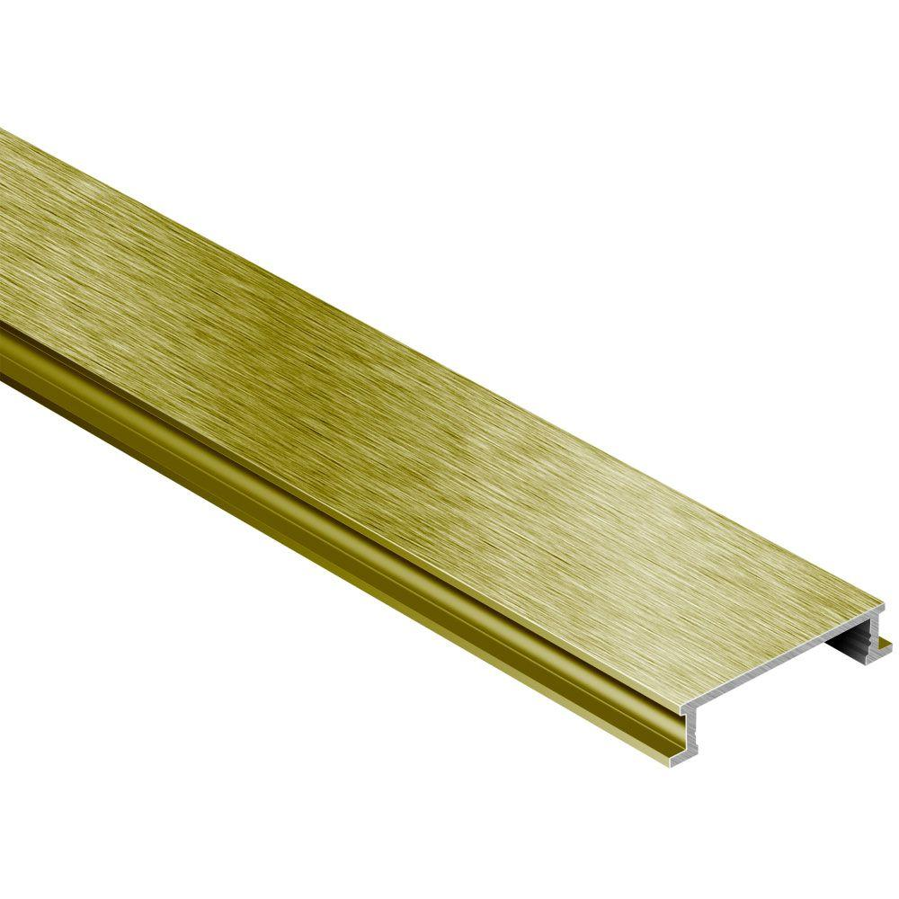 Schluter Designline Brushed Brass Anodized Aluminum 1 4 In