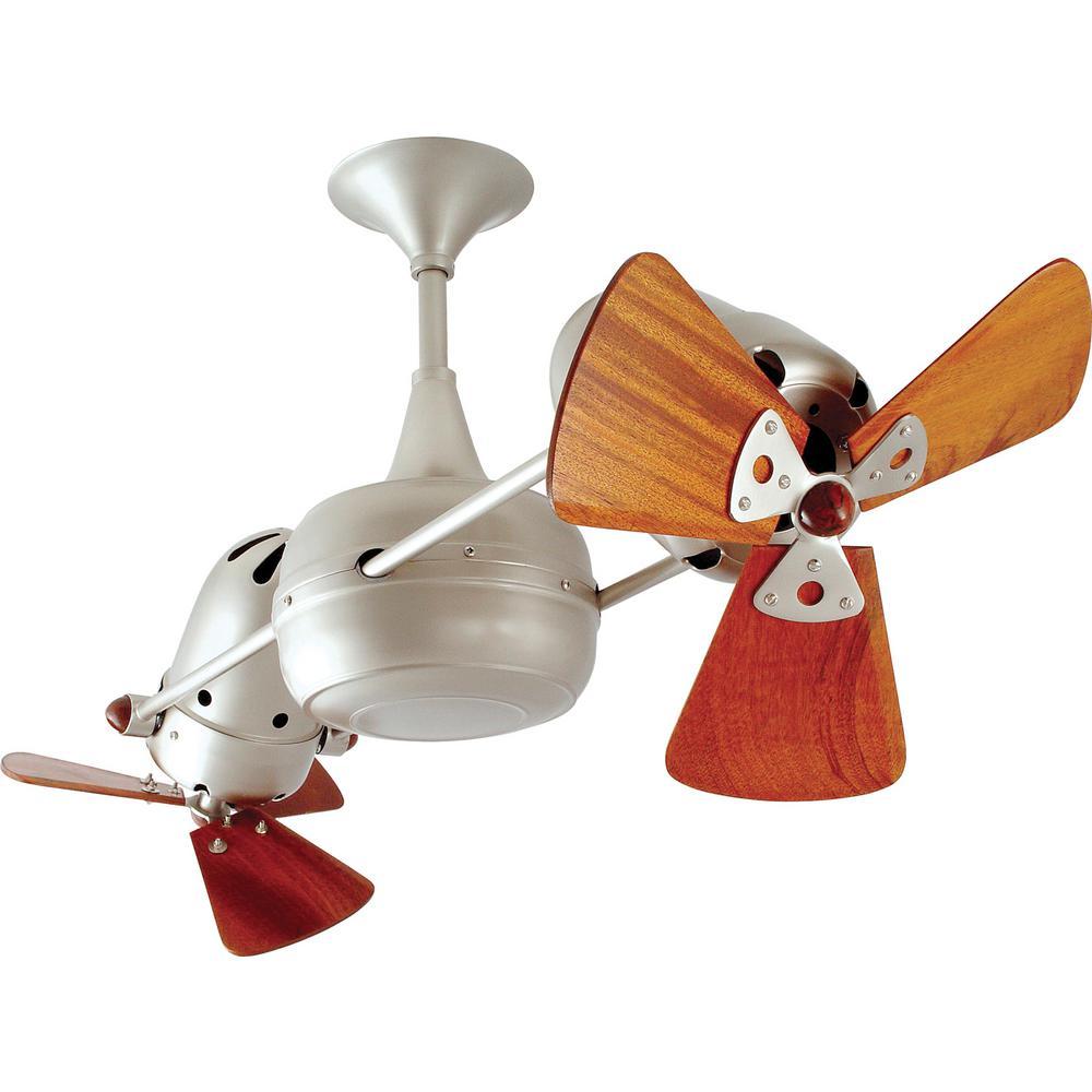 Pertoria 36 in. 6-Blade Brushed Nickel Ceiling Fan