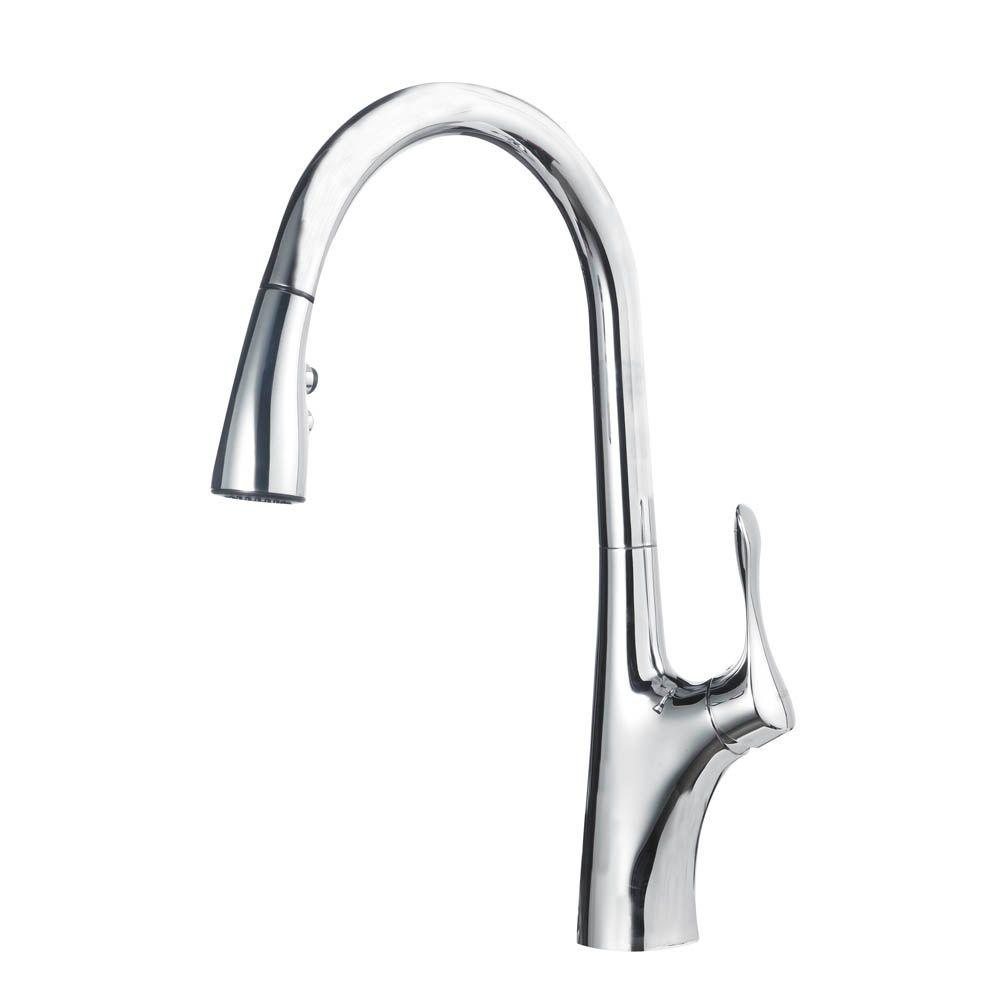 Blanco Napa 1 8 Gpm Single Handle Pull Down Sprayer Kitchen Faucet In Polished Chrome