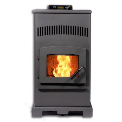 HP55 2200 sq. ft. EPA Certified Pellet Stove with Remote Control and Programmable Thermostat in Carbon Black