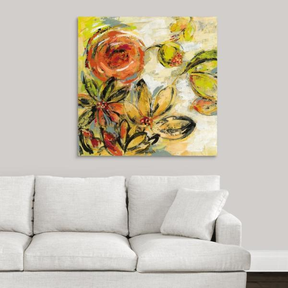 GreatBigCanvas ''Floral Joy'' by Silvia Vassileva Canvas Wall Art 2496229_24_36x36