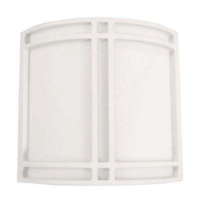 Multi-Use 2-Light White Fluorescent Surface Mount Sconce